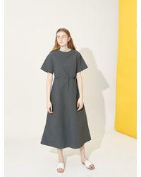 COLLABOTORY Minimal Long Dress - Grey