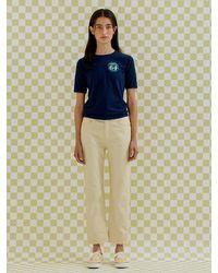 a.t.corner Premium Bossa Dyeing Denim Pants (light Yellow)