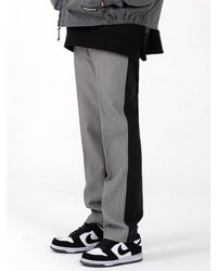 COSTUME O'CLOCK Half Colour Combination Slacks Grey