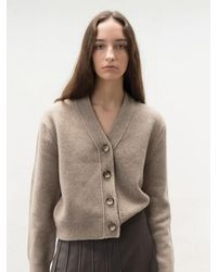 AVA MOLLI V-neck Cardigan () - Brown