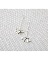 W Concept - Leaf Drop Earring - Lyst