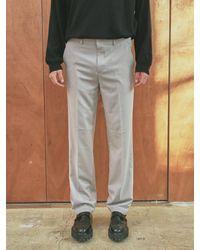 YAN13 Easy Wide Long Slacks - Grey