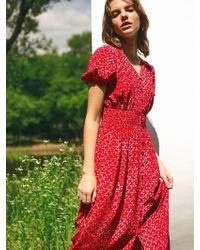 LETQSTUDIO - Floral Smocked Waist Dress - Lyst