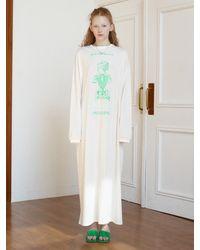 Baby Centaur Normally Trust Cotton Dress [] - White