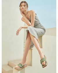 Intense Clothing Leather Buckle Sandal - Natural