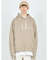 LAYER UNION Ctrs St Heavy Oversized Hoodie - Natural