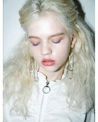 CLUT STUDIO 1 4 Sway Me Pearl Drop Earrings - Metallic