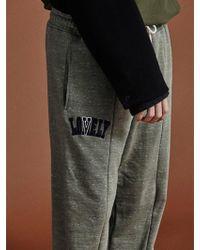 NOHANT - [unisex]lonely Lovely Logo Sweatpants Olive - Lyst