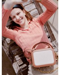 DEMERIEL Box Bag Mini Cotton Trimmed - Pink