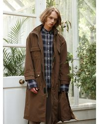 APPARELXIT - Unisex Pocket Fisherman Coat Brown - Lyst