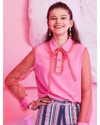 VVV - Red Check Pink Heart Ribbon Blouse - Lyst