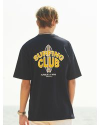 ANOUTFIT Surfing Club T-shirt Navy - Blue