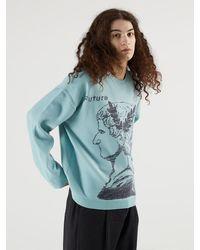 Heich Blade Janus Graphic Pullover Knitwear - Blue