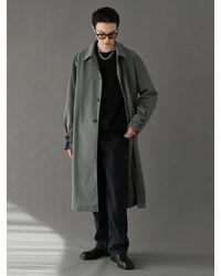 VOIEBIT Trench Mac Coat Gray