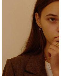 FLOWOOM Melted Earring S - Metallic