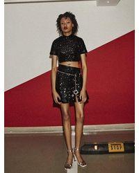 Fleamadonna Spangle Unbalance Skirt - Black