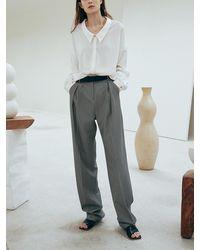OUI MAIS NON Seine Round Slacks Trousers - Black