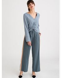 Petite Studio Sloane Trousers - Blue