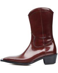 SO.U:LESURES - Cognac Middle Boots Brown - Lyst