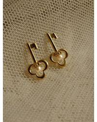 FLOWOOM Alice Key And Pearl Earring - Metallic
