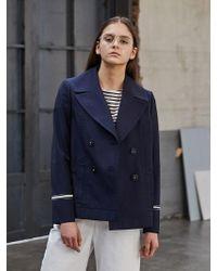 COLLABOTORY - Navy Cotton Pea Jacket - Lyst