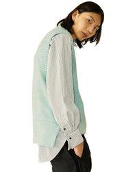 Heich Blade Brushed Loose Fit Knit Vest Mint - Green