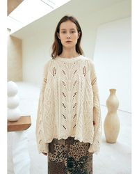 OUI MAIS NON - Forest Cotton Knit Pullover - Lyst