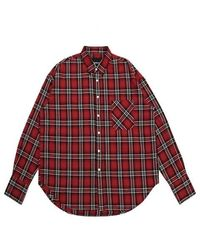 APPARELXIT [unisex]flannel Check Shirts - Red
