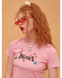 NANA CREW - Nana Symbol T-shirt - Pink - Lyst
