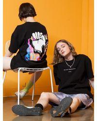 XTONZ Xtt018 Hand Paint T-shirt () - Black