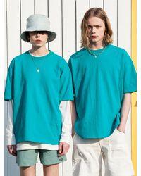 XTONZ Xtt023 Media Short Sleeve T-shirt (beach) - Blue