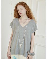 Baby Centaur Like Cashmere Knit Vest [] - Grey