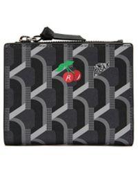 ROSA.K Monogram Cc Bi-fold Wallet - Black