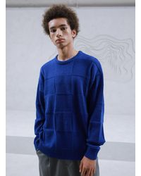 MADMARS Oversized Cashmere And Wool-blend Jumper - Blue