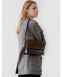 DEMERIEL Classic Bag Medium Crocodile Texture - Multicolor