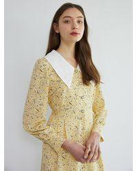 F.COCOROMIZ Coco Romantic Lace Long Dress (ye) - Yellow