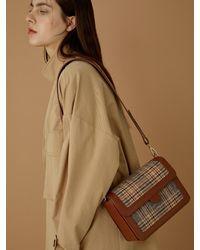 Atelier Park Geo Check Bag - Blue