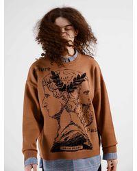 Heich Blade Janus Graphic Pullover Knitwear - Brown