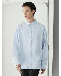 VOIEBIT Multi Stripe Shirt Blue