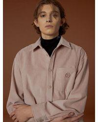 WAIKEI Big Corduroy Oversized Fit Shirt - Multicolor