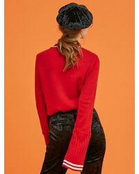 ANOTHER A - Pleats Sleeved Knit Top (2colors) - Lyst