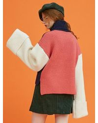 ANOTHER A - Wide Sleeve Turtleneck Knit Top (pink) - Lyst