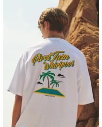 ANOUTFIT Overfit Whirlpool T-shirt White