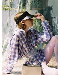 Awesome Needs Cow Leather Sun Visor - Black