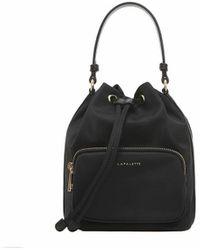 Lapalette Essential Nylon Bucket Bag - Black