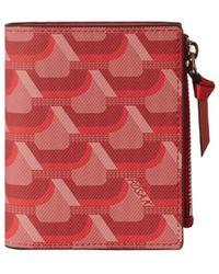 ROSA.K Cabas Monogram Bi Fold Wallet - Red