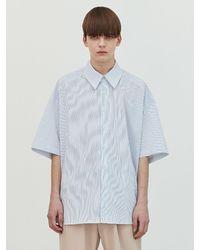 Add Cut-out Stripe Avantgarde Shirt - White