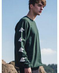 F.ILLUMINATE [unisex] Side Logo Printing Sweat Shirt-green