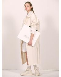 W Concept - [unisex] Cream Over-sized Mac Coat - Lyst
