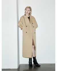 Clue de Clare Two Way Trench Coat - Natural